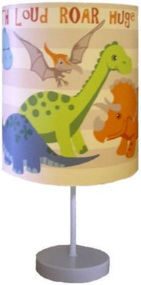Dinosaur Bedside Lamp - Natural Stripe