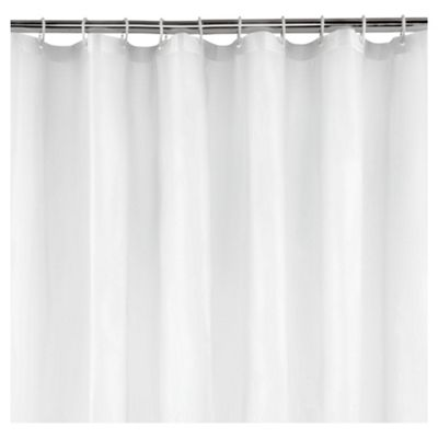 Tesco Value Shower Curtain And Rings Set