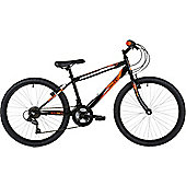"Freespirit Scar 24"" Wheel 6spd Junior Mountain Bike Black/Orange"