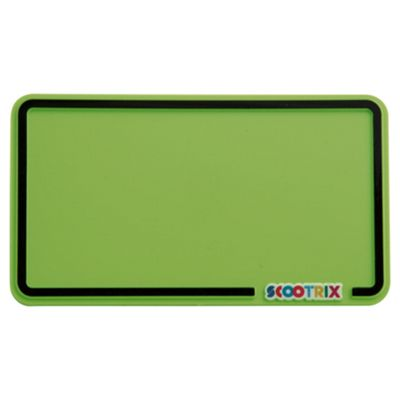 Scootrix Ride-On Number Plate, Neon Green