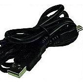 2-Power USB - Mini 1m Black cable to
