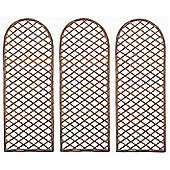 Set of 3 Willow Trellis With Curved Top