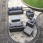 Torino Garden Rattan Sofa Set with Table Grey