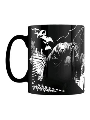 DC Comics Batman Shadows Heat Changing 10oz Ceramic Mug, Black