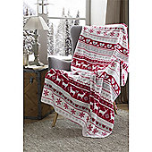 Festive Home Luxury Deer Christmas Throw - 59x78 Inches (150x200cm)