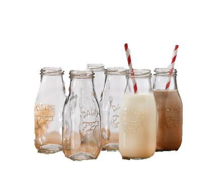 Eddingtons Set of 6 Mini Kids Glass Milk Bottles 67039