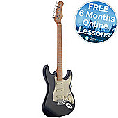 Stagg SES50M-BK S Series Vintage Elec Guitar - Black – with 6 Months Free Online Music Lessons