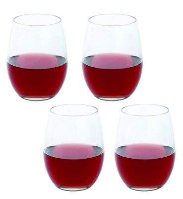 Dartington Crystal Stemless Red Wine Glasses Set of 4 440ml