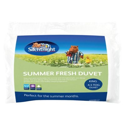Silentnight Summer Fresh Flow 4.5 Tog Kingsize Duvet With 2 Pillows