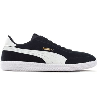 Puma Astro Cup Suede Mens Football Terrace Trainer Shoe Black/White - UK 11