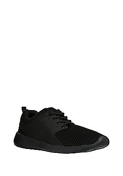 F&F Mesh Lifestyle Trainers - Black