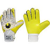 Uhlsport Elm Unlimited Lloris Soft Advanced Goalkeeper Gloves - White