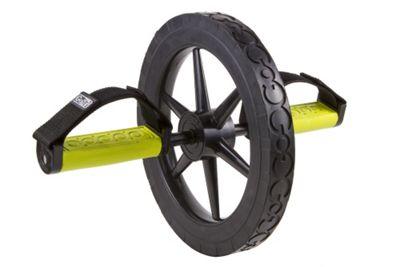 GoFit Extreme Abdominal Wheel with Slip resistant Foam Grip Handles BLACK/GREEN