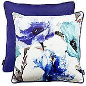 Rocco Flora Blue Cushion Cover - 43x43cm