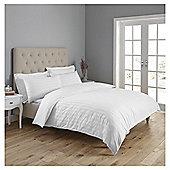 Fox & Ivy  Sateen Stripe  Duvet Set - White