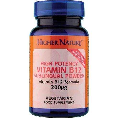 Higher Nature High Potency Vitamin B12 Sublingual Powder