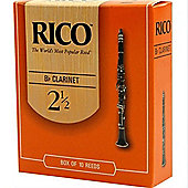 Rico 2 1/2 Bb Clarinet Reed (x10)