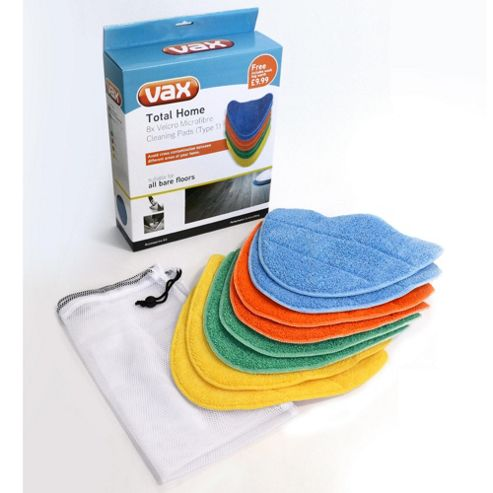 Vax Total Home Pads 8x Coloured Pads