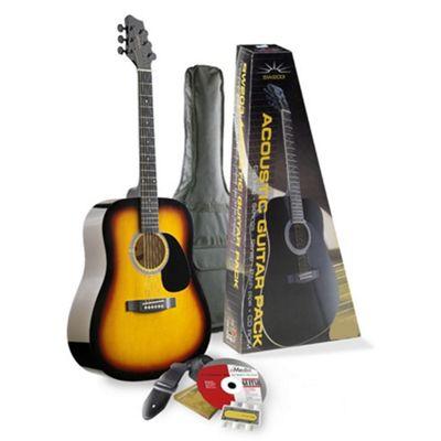 Rocket Dreadnought Acoustic Guitar Pack In Sunburst