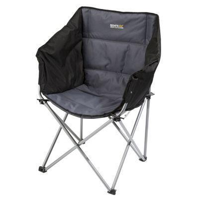 Regatta Navas Camping Chair with Storage Bag - Black/Seal Grey