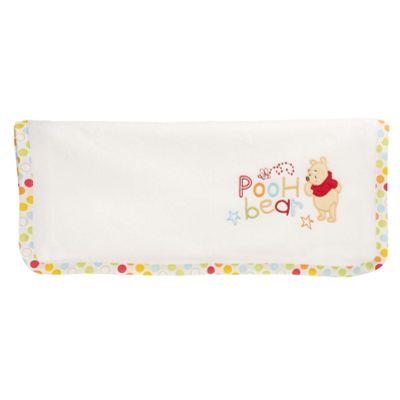 Obaby Disney Winnie the Pooh Crib/Moses Basket Fleece Blanket in White