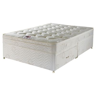 Airsprung Small Double Divan Bed, Hatton Cushiontop, Non-Storage