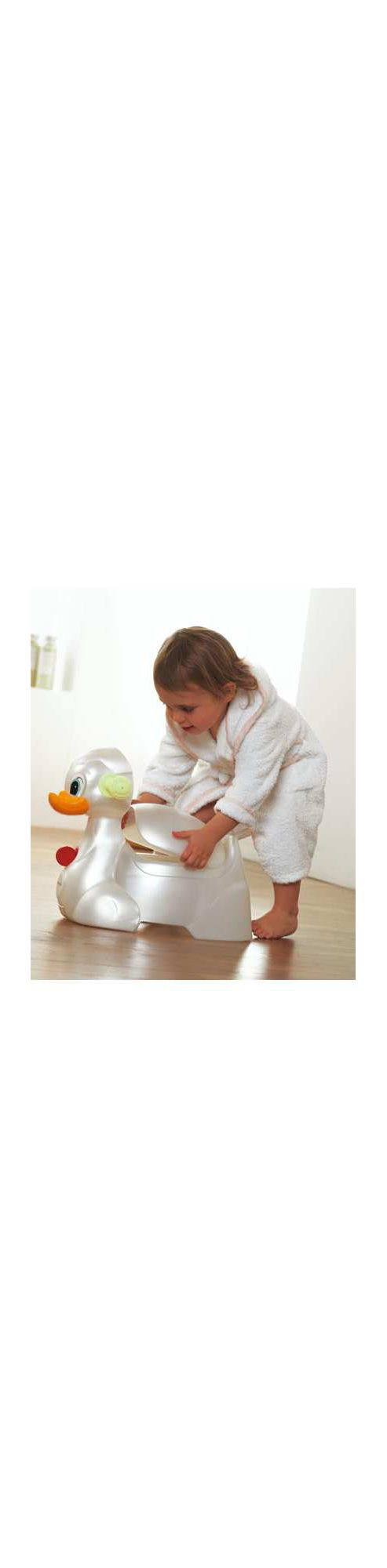 Mamas & Papas - Squeaka Duck Potty - Pearl White/Soft Lime