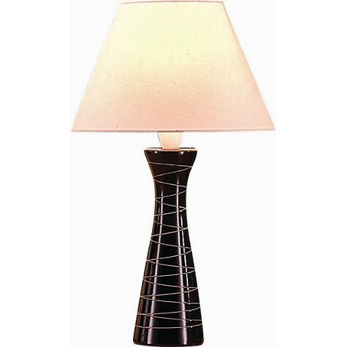 The Lighting & Interiors Group Lady Resist Table Lamp - Chocolate - Cream Cottonette