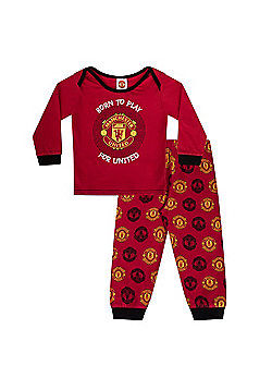 Manchester United FC Boys Baby Pyjamas - Red