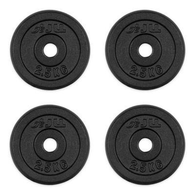 JLL Cast Iron Weight Plates - 4 x 2.5kg (10kg)