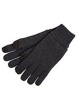 "F&F Fleece Lined Touch Screen Gloves with Thinsulate""™ - Grey"