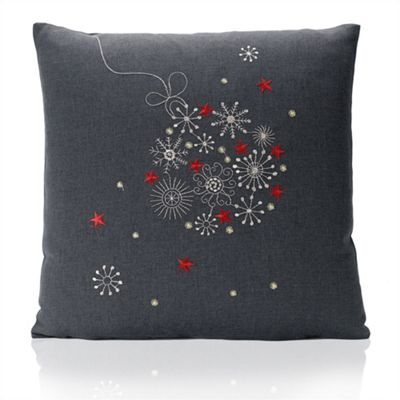 Christmas Celebration Chenille Cushion Cover - 46x46cm