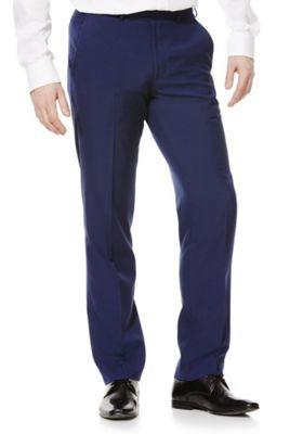 F&F Regular Fit Suit Trousers 36 Waist 31 Leg Cobalt
