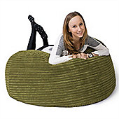 Lounge Pug™ Mammoth Cord Bean Bag - Lime