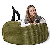 Lounge Pug® Mammoth Bean Bag Sofa - Cord Lime Green