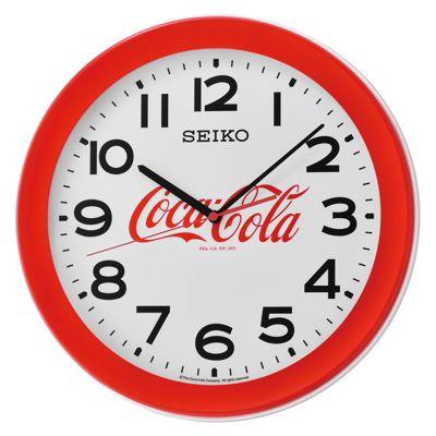 Seiko QXA922R Coca-Cola Wall Clock│Large Arabic Numerals│Round Shape│Red