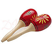 Stagg Red Pair of Wooden Oval Maracas
