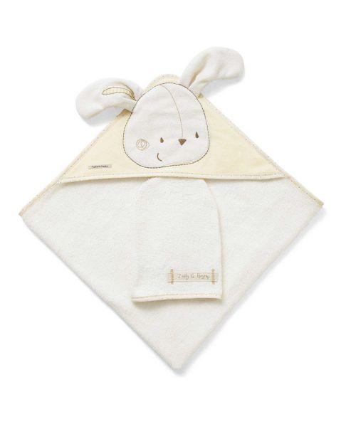 Mamas & Papas - Zeddy & Parsnip - Hooded Towel & Mitt