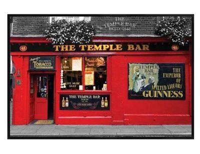 Dublin Gloss Black Framed The Temple Bar Poster