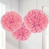 New Pink Pom Poms - 40cm