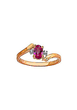 QP Jewellers Diamond & Pink Topaz Embrace Ring in 14K Rose Gold