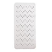 Showerdrape Extra Long Anti Slip Bath Mat 90 x 36cm White