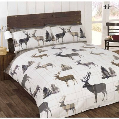 Rapport Woodland Stag Natural Duvet Cover Set - Double