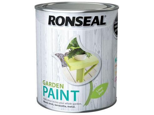 Ronseal RSLGPLZ750 750 ml Garden Paint - Lime Zest