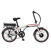 Viking Harrier Folding 7 Speed 250w 3 Mode Assist Electric Bike White