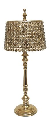 63.5cm Round Crystal Lamp