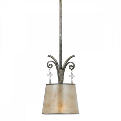 Mottled Silver Pendant Light - 1 x 60W E27