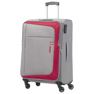 American Tourister HyperFlair Large 4 Wheel Grey/Red Suitcase