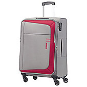 American Tourister HyperFlair 4 Wheel Grey/Red Large Suitcase