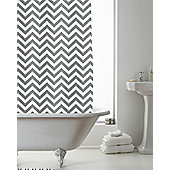 Modern Makeover Chevron Shower Curtain, Grey